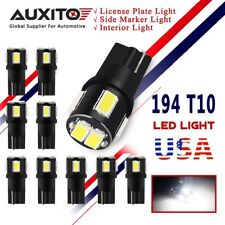 AUXITO 10x 194 LED Interior Map Dome Side Marker Lights LED Bulbs T10 168 W5W