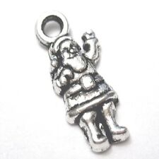 10 pieces 4x14mm Tibetan Silver Santa Claus Alloy Charm Pendants - A2345