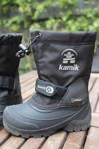 Kamik Unisex-Kinder Waterbug5g Schneestiefel schwarz Größe 30 Herstellergröße 12