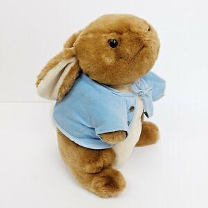 "Peter Rabbit Eden 12"" Plush Stuffed Animal Vintage With Jacket"