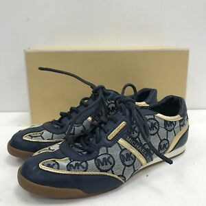 Michael Kors Trainers Womens Size UK 5 E 40 Blue Leather/Textile Casual 161003