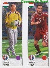 656 GABOR KIRALY / ATTILA FIOLA MAGYARORSZAG HUNGARY STICKER EURO 2016 PANINI