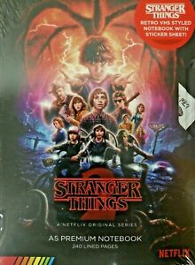 STRANGER THINGS Official A5 Notebook/Journal VHS SEASON 2 Gift Stationary - NEW