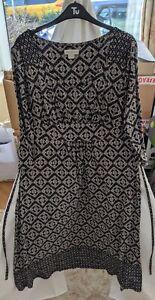 Monsoon Jersey Dress Size 14 Monochrome Geometric
