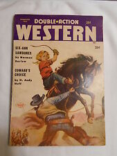 -DOUBLE ACTION WESTERN-FEBRUARY,1958-WESTERN PULP MAGAZINES-SIX-GUN SAWBONES