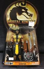 "JAZWARES MORTAL KOMBAT SHAOLIN MONKS SCORPION 6"" INCH ACTION FIGURE VIDEOGAME"