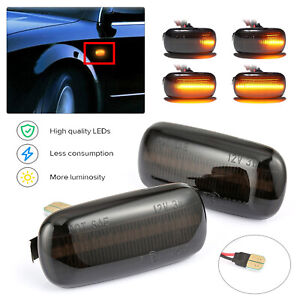 LED Dynamic Side Indicator Repeater Amber Lights For Audi A3 A4 S3 S4 8P B6 B7
