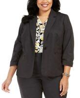 Kasper Women's 16w Plus Size Zippered Blazer Suit Jacket, Black, $129, NwT