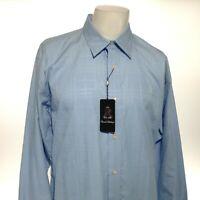 DANIEL BISHOP Men's Large Blue Long Sleeve Button Down Dress Shirt RN#75343 NEW!