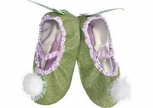 Disney Princess TinkerBell Slipper Shoes Child Kid Fits 7-11 green purple white
