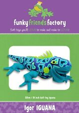 Igor Iguana Lizard Soft Toy Sewing Pattern, From Funky Friends Factory New