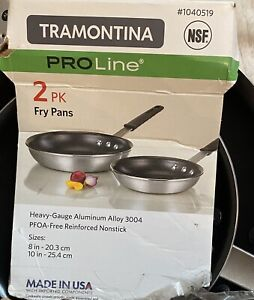 TRAMONTINA PRO LINE NON STICK FRYING PANS X2 BNWT