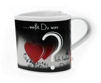 Farbwechsel Tasse - Ich liebe dich, Herz Tasse, Love Mug, Zaubertasse