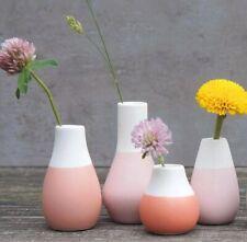 Rader Set 4 MINI VASE Flower Pots WHITE & PASTEL RED Ceramic Räder