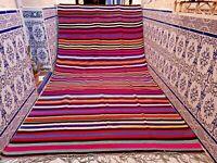 "Vintage Moroccan Rug Handmade Rug Old Kilim Wool Carpet Tribal Azilal 11'6 x6'2"""