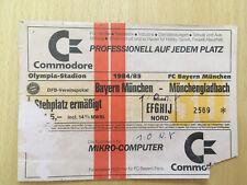 Ticket FC BAYERN MÜNCHEN - BORUSSIA MÖNCHENGLADBACH 1:0 Saison 1984/85 DFB-POKAL