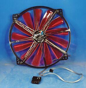 AeroCool Silent Master 200mm Red LED Case Fan