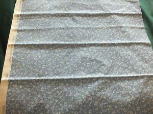 Vintage Laura Ashley Fabric - Wild Clematis Smoke 1m10cm x 80cm