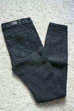 Pantaloni jeans skinny Pull & Bear jacquard damascato grigio tg. EU 34 - IT 38