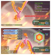 Pokemon Let's Go Pikachu & Eevee ✨ SHINY ✨ 6 IVs 1 LEVEL MOLTRES FAST DELIVERY