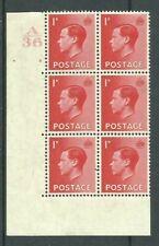 1936, SG458, P2, 1d Scarlet, A36 / 2 no dot, MM, (02808)