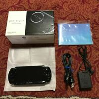 SONY PSP Playstation Portable Piano Black PSP-3000PB Console Game Japan FS