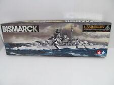 Mes-44600 tamiya 78013 6500 1:350 Bismarck Kit ouvert,