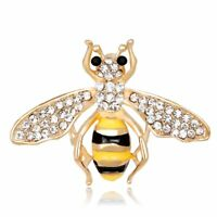 Animal Insect Crystal Brooch Pin Womens Costume Wedding Bridal Jewellery Gift