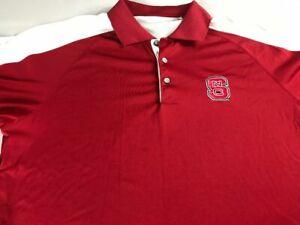 NC State Wolfpack Polo Shirt Fits Mens XL Dri-Fit Golf Student Alumni Graduate