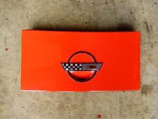 84-96 C4 Corvette Gas Fill Door Cover Lid with Base Assembly Red OEM