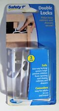 New In Package Safety 1st 3 Pack Cabinets & Drawers Double Locks