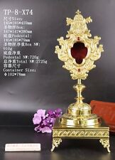 Ornate Brass Monstrance Reliquary for church with Tabor Pedestal TP-8-X74