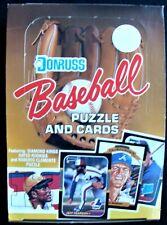 1987 DONRUSS BASEBALL WAX PACKS EMPTY DISPLAY BOX - MURPHY CANSECO CLEMENTE