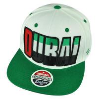 Zephyr Dubai Arab Emirates Adjustable Snapback White Backdrop Villain Hat Cap