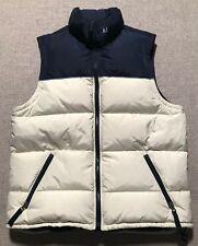 Men's Abercrombie Puffer Vest Nylon Goose Down Jacket Zipper Up Front Sz M #BB2