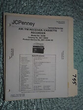 JC Penny JCP 3246 851-0992 service manual original repair book radio boombox