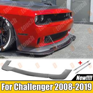 Carbon Look Front Bumper Lip Splitter For Dodge Challenger RT SRT GT + Rod Bars