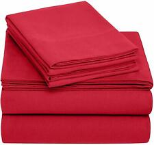 NEW Pinzon Flat Sheet 100% Cotton Flannel Merlot Red made in Europe
