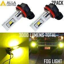 Alla Lighting H8 12-LED Fog Light Driving Bulb Replacement Lamp Golden Yellow,2x