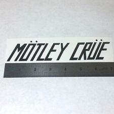 MOTLEY CRUE Vinyl DECAL STICKER BLK/WHT/RED Hair Heavy Metal BAND Logo Guitar LP