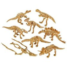 "2"" Dinosaurs Fossil Skeleton Figure 16 Pc Two Of Each Jurassic Pvc Bone New"