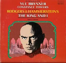 "Broadway Cast YUL BRYNNER ""THE KING AND I"" Vinyl 12"" LP-33 Album VG+ 1977 Stereo"