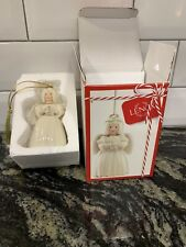 Nib Lenox Holiday Cheer Angel Porcelain Xmas Ornament w/ 24K Gold 3.5""