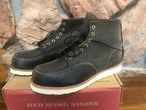 Red Wing Shoes 8890 Classic Moc Toe Men's 11.5 Charcoal Rough and Tough Black