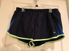 New Nike Womens Navy Lined Athletic Running Shorts Size Xl Exercise