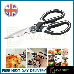 Heavy Duty Scissors Multi Purpose Kitchen Household Office Stainless Steel Set