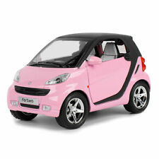 Benz Smart ForTwo 1:24 Scale Model Car Toy Vehicle Diecast Gift Pink Pull Back