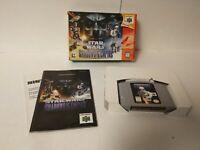 Star Wars Shadows of the Empire (Nintendo 64) N64 CIB Authentic Complete