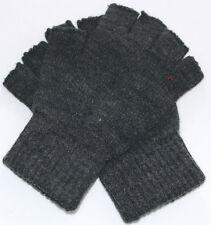 Winter Warm Unisex Men Women Knitted Fitness Fingerless Gloves Knitted Gray