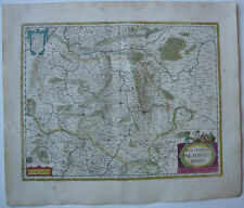 Rheinland Pfalz altkolor Orig Kupferstichkarte Mercator Janssonius 1627